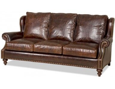 Bradington Young Bosworth Leather Sofa. Made in the USA : Leather ...