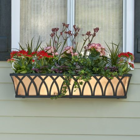 How To Hang Window Boxes The Right Way Window Box Flowers Metal Window Boxes Hanging Window Boxes