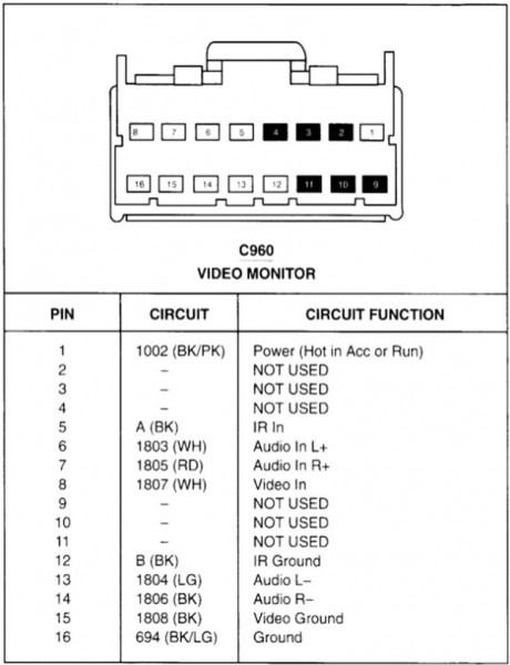 Kenwood 16 Pin Wiring Harness Diagram Ford Expedition Kenwood Car Audio Electrical Wiring Diagram