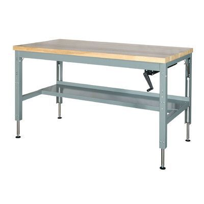 Parent Metal Products Basic Hydraulic Height Adjustable Maple Top