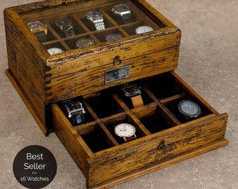 Watch Box Watch Case Men S Watch Box Watch Box For Men Etsy Montres Homme Boite A Montre Boite A Bijoux