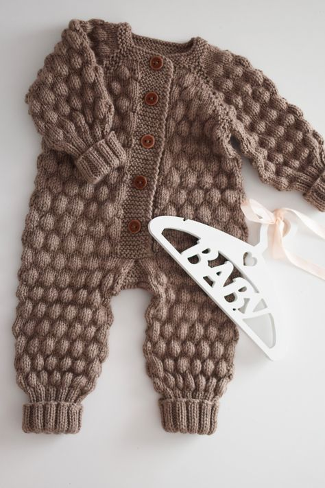 Brown newborn costume boy – going home outfit – baby clothes -knitted outfits – baby boy costume – overalls and hat – knit cap – months Brown knitted baby costume overall for boy knit hat image 4 Baby Boy Knitting Patterns, Knitting For Kids, Baby Knitting, Baby Costumes For Boys, Boy Costumes, Knitted Baby Clothes, Baby Kids Clothes, Baby Knits, Going Home Outfit