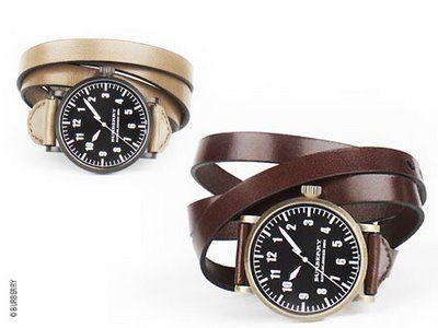 nouvelle arrivee b2388 1d2f8 Montre Burberry Homme Double Bracelet Cuir   Watches ...