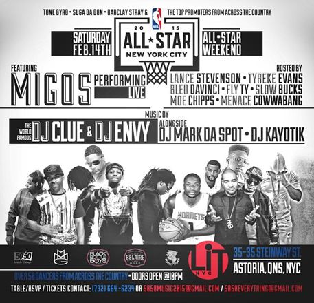 All Star Weekend @ LiT Saturday February 14, 2015 « Bomb Parties – Club Events and Parties – NYC Nightlife Promotions