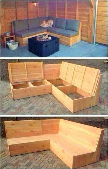 Ideas For Making Decorative Objects From Pallets Outdoor