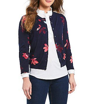 Joules Skye Floral Print Cardigan | Sweaters for women