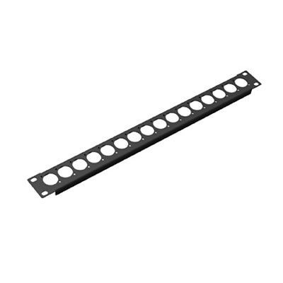 Procraft Wall Mount Aluminum Studio Panel Pre-Punched for 16 XLR/'s Black