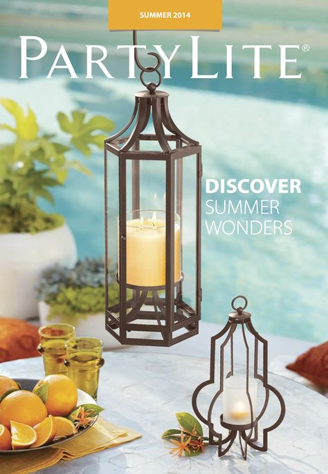 Shop the #PartyLite Summer catalog through July 31 for quality candles and beautiful holders.