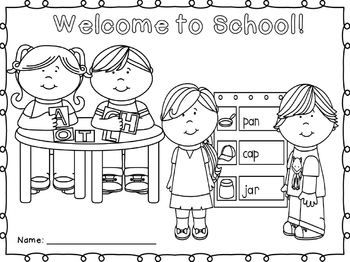 back to school coloring page freebie teacherspayteacherscom kindergartenklubcom pinterest school kindergarten and september - Welcome Back To School Coloring Pages