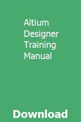 Altium Designer Training Manual   anvikohcont   Opel corsa