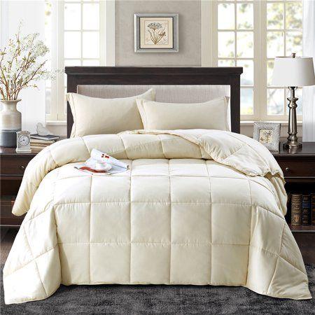 All Season Down Alternative Comforter Set 3pc Box Stitched