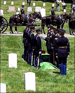 David H. Hackworth (1930 - 2005) The Honor Guard folds the American flag at Hack's gravesite.
