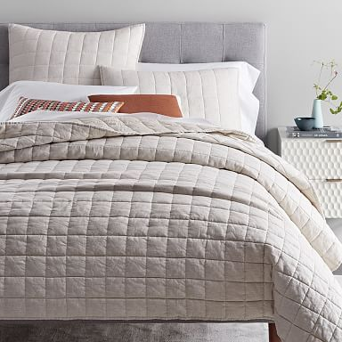 Modern Quilts Coverlets West Elm Bed Linens Luxury Linen Quilt Bed Spreads