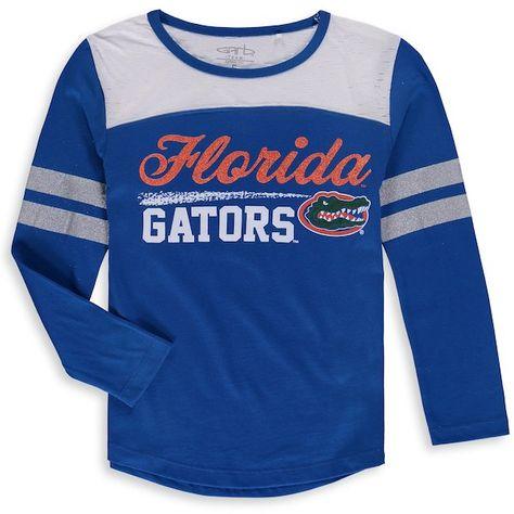 352100237aa38 Florida Gators Garb Girls Youth Paige Football Long Sleeve Stripe T-Shirt  Royal #FloridaGators