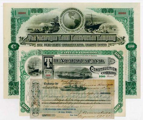 Nicaragua C Construction Co 1890
