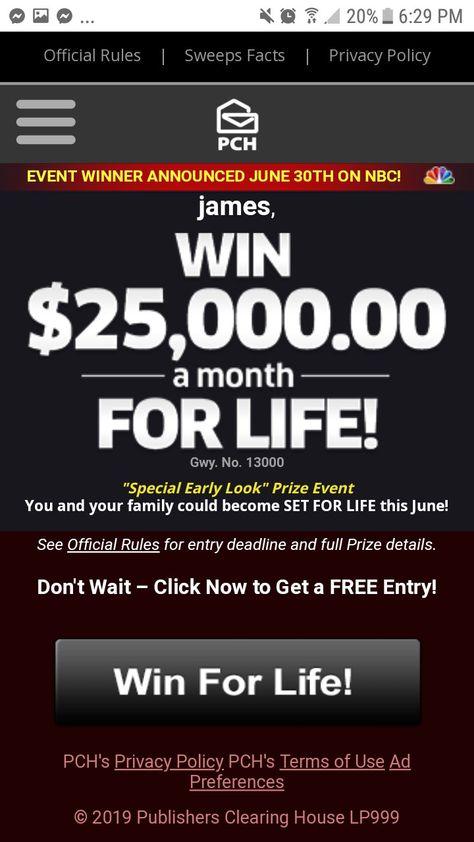 I claim Gateway number 13000 $7,000 for Life prize upgrade