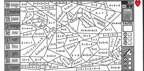 coloriage magique fiche 13 cm1 jpg 1674 1092 multiplicaciones