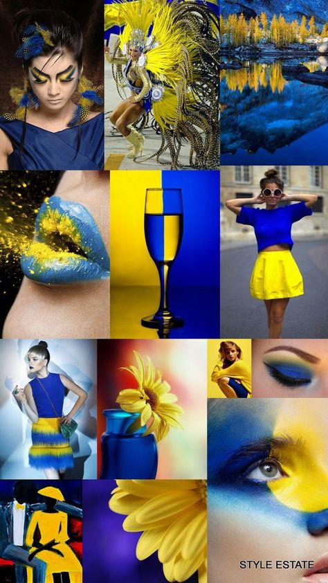 #blue #yellow #collage