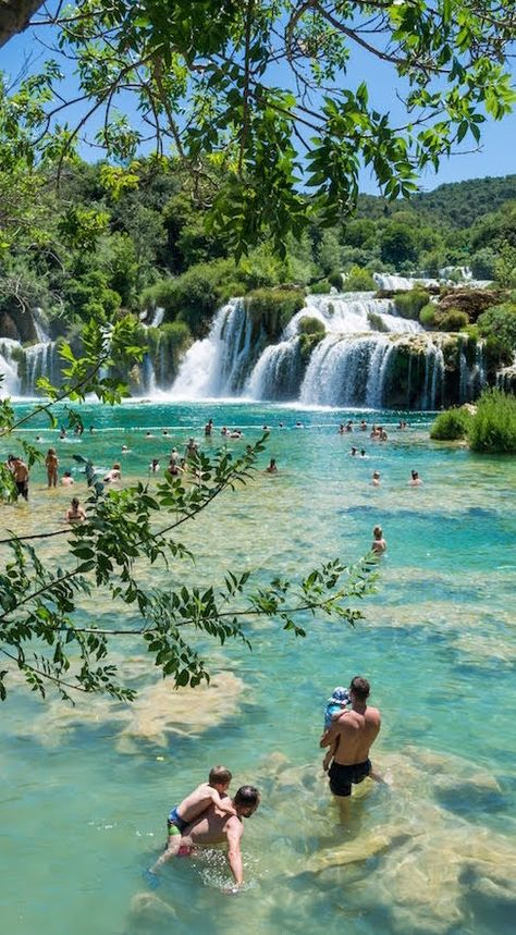 Krka Waterfall Krka National Park in Croatia is full of waterfalls and stunning scenery. Vacation Places, Vacation Destinations, Dream Vacations, Vacation Spots, Holiday Destinations, Croatia Itinerary, Croatia Travel, Italy Travel, Hvar Croatia