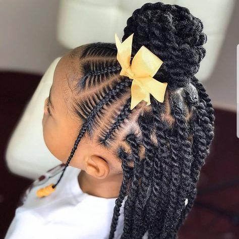 Lil Girl Hairstyles, Black Girl Braided Hairstyles, Black Kids Hairstyles, Natural Hairstyles For Kids, Princess Hairstyles, Natural Hair Styles, Toddler Hairstyles, Little Girl Braids, Braids For Kids
