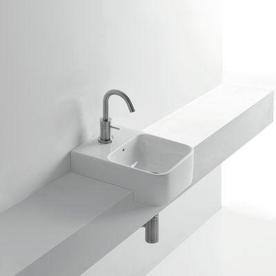 Ws Bath Collections Normal Ceramic Square Vessel Bathroom Sink