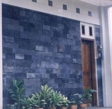 Contoh Pemasangan Batu Candi Untuk Dinding Depan Arsitektur Dinding Batu Rumah