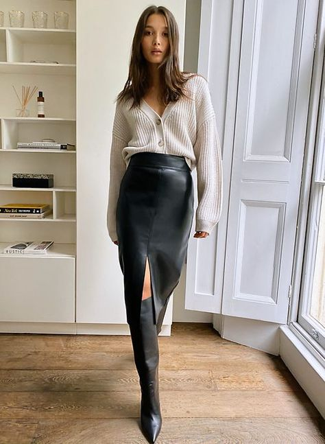 Winter Fashion Outfits, Autumn Fashion, Fall Office Outfits, Women Fall Outfits, Winter Work Fashion, Chic Office Outfit, Office Chic, Estilo Glamour, Pencil Skirt Outfits