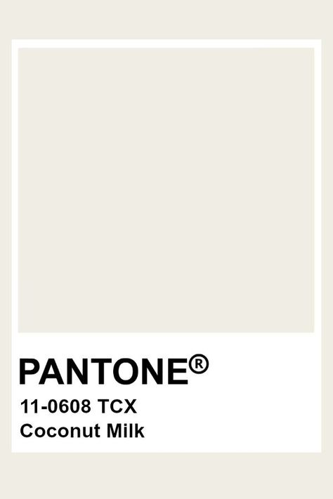 Pantone Coconut Milk