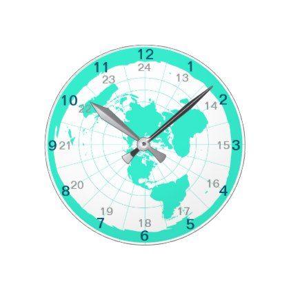 Flat Earth Clock Design Zazzle Com Clock Design Design Flat Earth