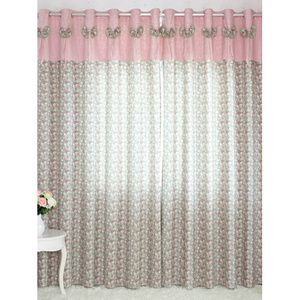 Comfortable Floral Pink And Green Printed Curtains Printed Curtains Curtains Pink And Green
