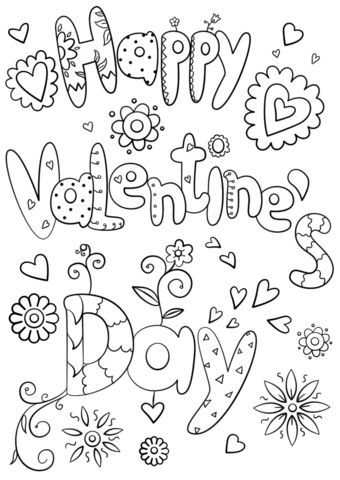 Happy Valentine S Day Coloring Page From St Valentine S Day