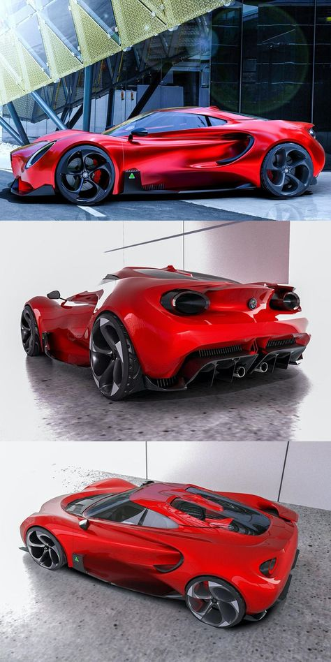Dreaming Of A New Alfa Romeo Sports Car. A designer has envisioned what an Alfa Romeo replacement could look like. Alfa Romeo 4c, Alfa Romeo Tuning, Alfa Romeo Giulia, Alfa Romeo Cars, Alfa Romeo Spider, Fancy Cars, Cool Cars, Cool Sports Cars, Vintage Sports Cars