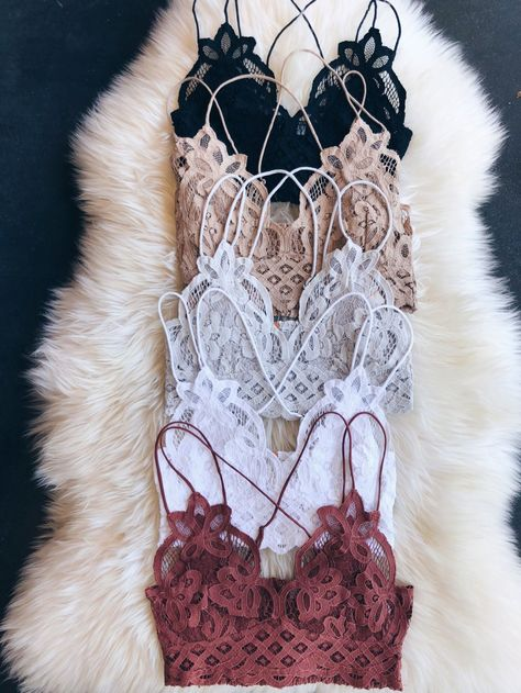 """Check out the free people """"Adella bralette"""" on our website.Check out the free people """"Adella bralette"""" on our website Cute Lingerie, Lingerie Outfits, Women Lingerie, Ropa Interior Babydoll, Bras Best, Mode Boho, Trendy Swimwear, Lingerie Collection, Looks Style"""