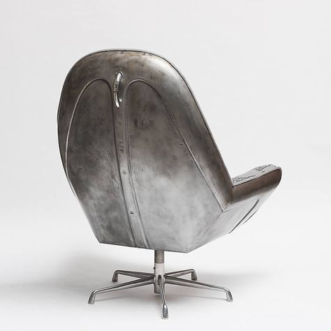 Beetle Club Chair: upcycled VW bonnet by The Rag and Bone Man. Gloucestershire Resource Centre http://www.grcltd.org/home-resource-centre/