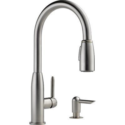 Peerless Faucets Pull Down Single Handle Kitchen Faucet Wayfair In 2020 Stainless Kitchen Faucet Kitchen Faucet With Sprayer Stainless Kitchen