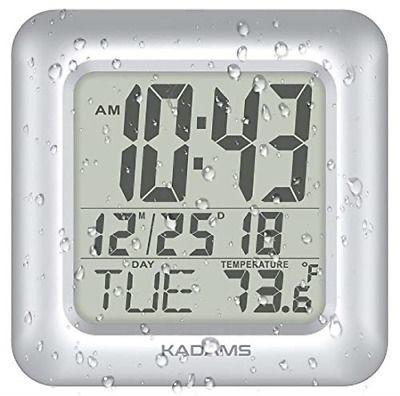 Kadams Digital Bathroom Shower Wall Clock Waterproof For Water Spray Seconds Fashion Home Garden Homedcor Clocks In 2020 Bathroom Shower Walls Clock Water Spray