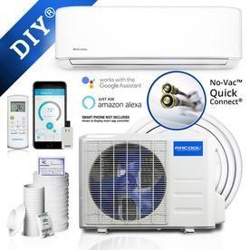 Mrcool Diy 2nd Gen Enhanced 24000 Btu 1000 Sq Ft Single Ductless Mini Split Air Conditioner With Heater Lowes Com Heat Pump System Ductless Mini Split Ductless Heat Pump