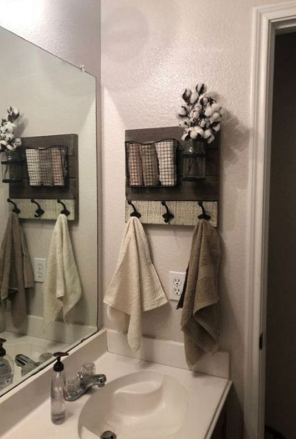17 Inspiring Towel Storage Bathroom (Redefine Your Bathroom) - Bathroom Decor - Bathroom Towel Towel Storage, Recessed Storage, Bathroom Towels, Cottage Bathroom, Bathroom Design, Bathroom Decor, Bathroom Redo, Cottage Bathroom Design Ideas, Bathroom Towel Storage