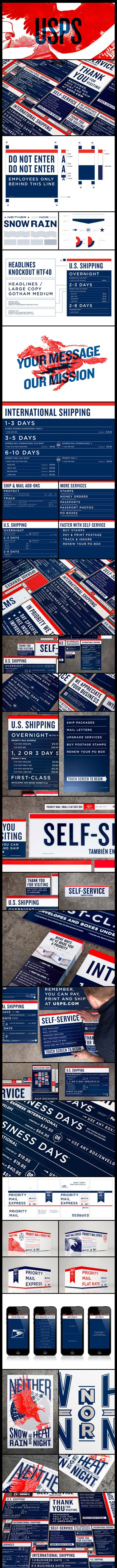 The USPS RE-branding that never was   Fantastic work by Grand Army