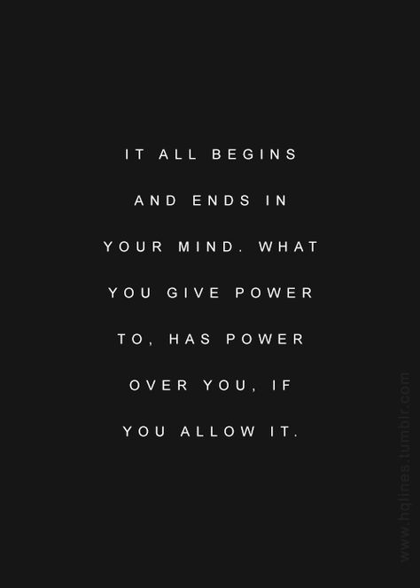 Fill your mind with the good.
