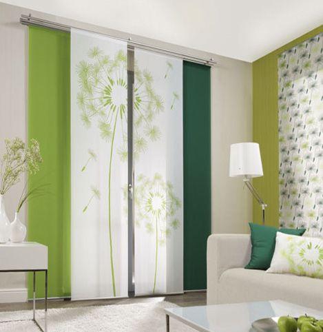 Lowenzahn Grun Flachenvorhange 2 Teiliges Set Moderne Raumteiler Raumteilerturen Stoff Raumteiler