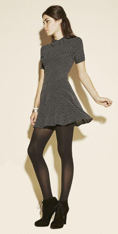 Girl Dressed In grey dress - - styles - Skirt Ideas