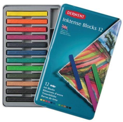2300442 Derwent Inktense Ink Blocks 12 Count