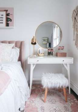 28 Ideas For Diy Makeup Station Small Spaces Bathroom Small Bedroom Vanity Home Decor Room Inspiration