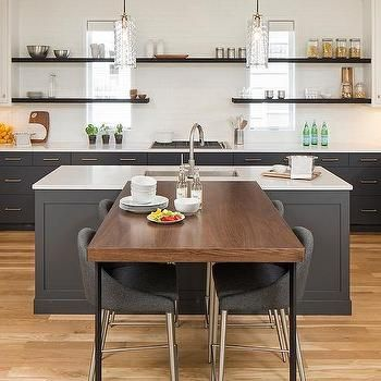 Dining Table Perpendicular To Kitchen Island Transitional Kitchen Bar Dining Table Kitchen Island Table Breakfast Bar Table