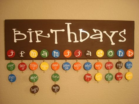 A cute way to remember everyone's birthday! Gotta do this