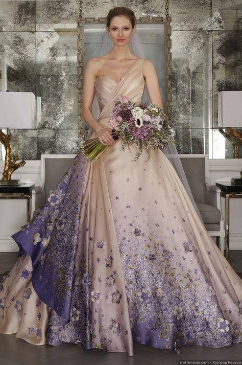 Vestiti Da Sposa Viola.Abiti Da Sposa Colorati 30 Modelli Per Le Personalita Piu Audaci