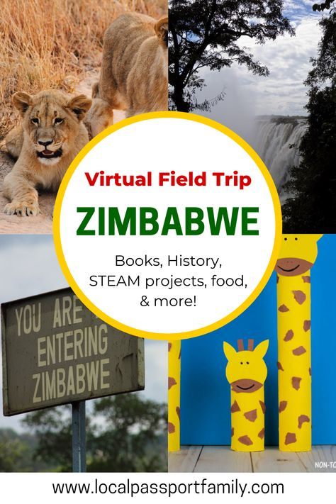 Virtual Travel, Virtual Tour, Animal Activities For Kids, Geography For Kids, Virtual Field Trips, Thematic Units, Library Lessons, African Countries, Zimbabwe