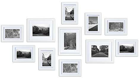 Amazon Com Ray Chow White Gallery Wall Picture Frames Set Kit