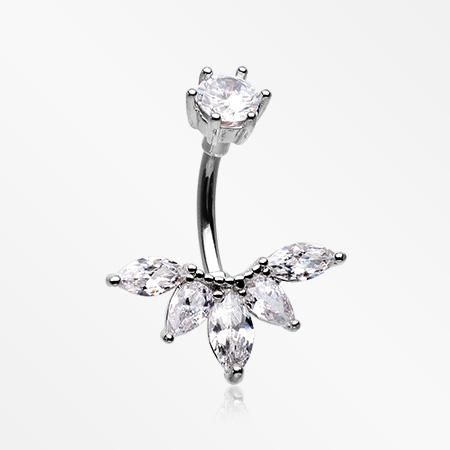 Marquise Floret Sparkle Belly Button Ring In 2019 Belly Button